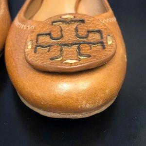 Tory Burch Shoes - Tory Burch Reva Flats Royal Tan size 7.5